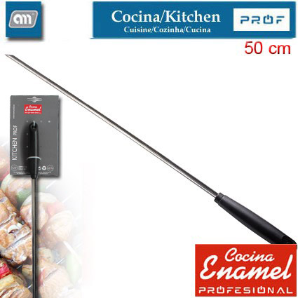 BLISTER STAINLESS SWORD SKEWER 50 CM [ENAMEL PROF]