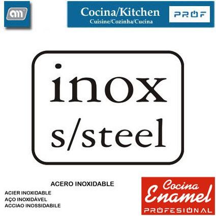 BLISTER TENACILLA/PINZA 45 CM INOX [ENAMEL PROF]