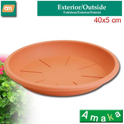 PLATO MACETA 40 CM N10 PLAST [AMAKA]