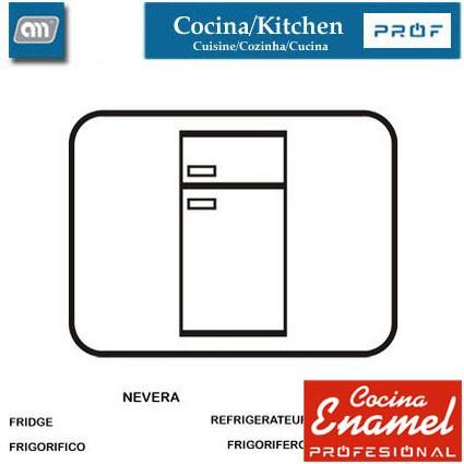 CUBETA ALIMENTACION 30X20X6 CM 2 L [ENAMEL PROF